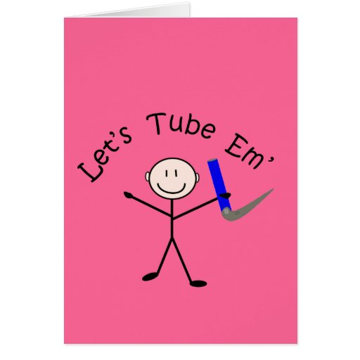 "Respiratory Therapy Stick Person ""Let's Tube Em"" Cards"