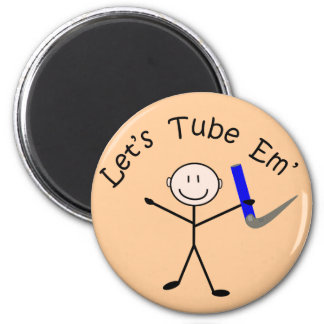 "Respiratory Therapy Stick Person ""Let's Tube Em"" Refrigerator Magnets"