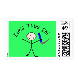 "Respiratory Therapy Stick Person ""Let's Tube Em"" Postage"