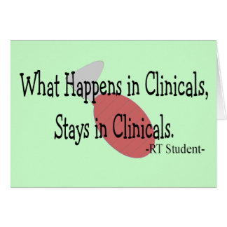 Respiratory Therapy Student  Gifts Card