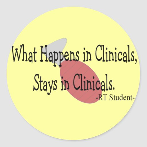 respiratory therapy student gifts round stickers zazzle