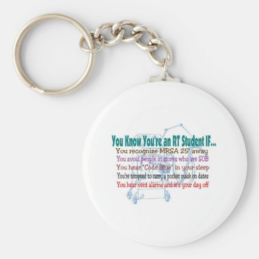 Respiratory Therapy Student Keychain