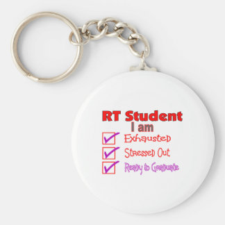 Respiratory Therapy Student--Stressed Out! Basic Round Button Keychain