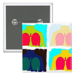 Respiratory Therapy X-Ray Lungs Button RT
