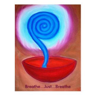 Respire apenas respiran la postal