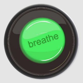 Respire el botón pegatina redonda
