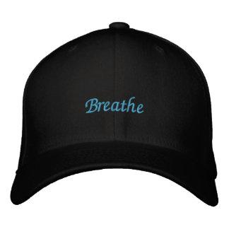 Respire el casquillo bordado gorra de béisbol