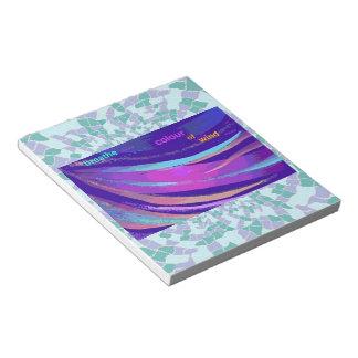 Respire el color de la libreta del arte abstracto bloc de notas