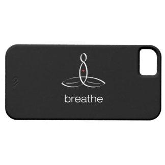 Respire - el estilo regular blanco iPhone 5 carcasas