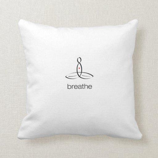 Respire - el estilo regular negro almohadas