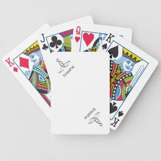 Respire - el estilo regular negro cartas de juego