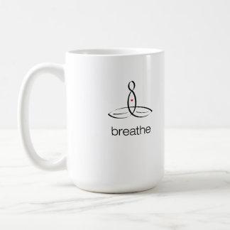 Respire - el estilo regular negro taza