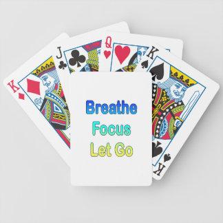 Respire el foco invertido deje van copia graident baraja de cartas