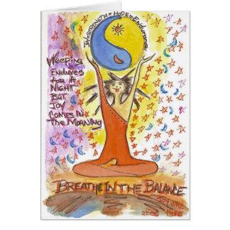 Respire en el equilibrio tarjeta de felicitación