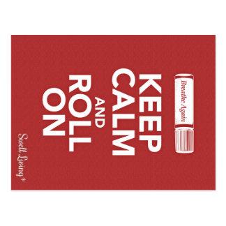 Respire guardan calma y ruedan otra vez en tarjeta postal