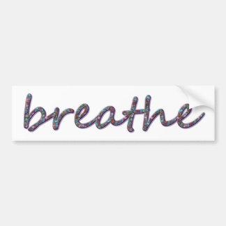 Respire Pegatina Para Auto