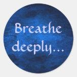 Respire profundamente… al pegatina