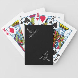 Respire profundamente - el estilo de lujo blanco baraja de cartas