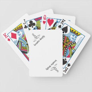 Respire profundamente - el estilo sánscrito negro cartas de juego