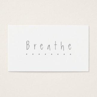 "Respire - ""tome la tarjeta de una rotura"" tarjetas de visita"