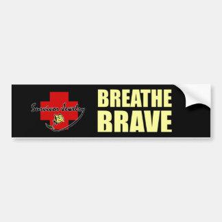 Respire valiente - joyería del superviviente pegatina para auto