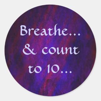 Respire… y cuenta… al pegatina 10