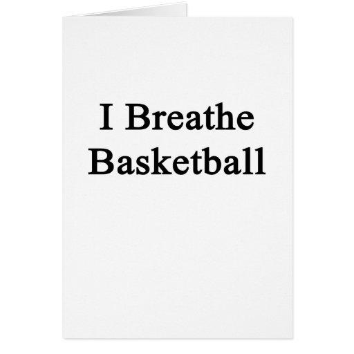 Respiro baloncesto tarjetas