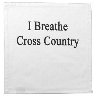Respiro el campo a través servilletas imprimidas