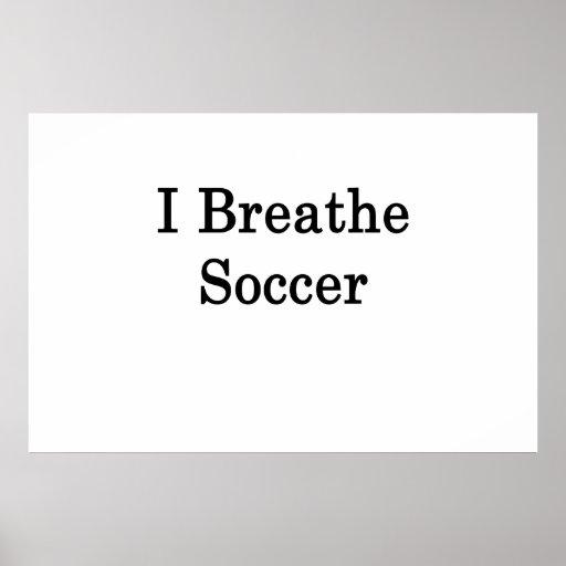 Respiro fútbol póster