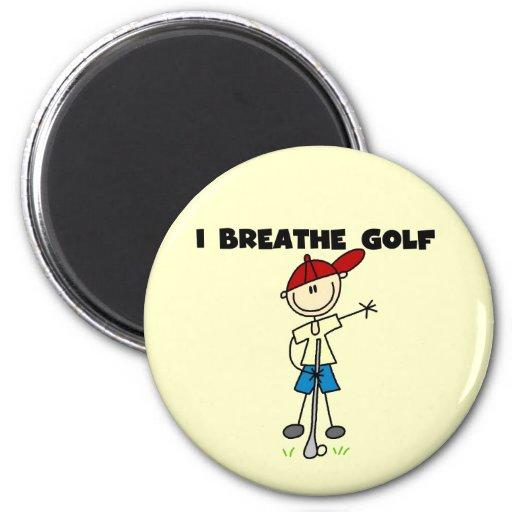 Respiro golf imán de frigorifico
