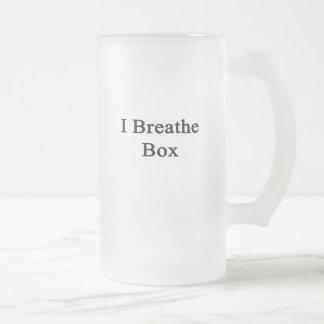 Respiro la caja taza cristal mate
