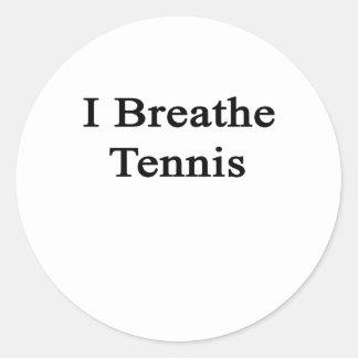 Respiro tenis pegatina redonda