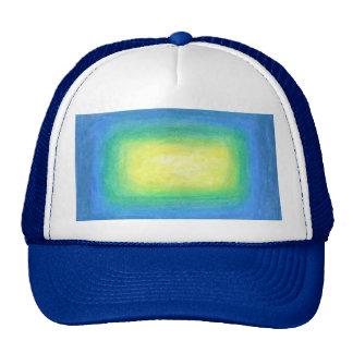 Resplandor amarillo azul gorra