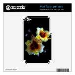 Resplandor amarillo de los lirios skins para iPod touch 4G