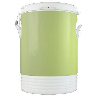 Resplandor amarillo enfriador de bebida igloo