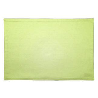 Resplandor amarillo mantel individual