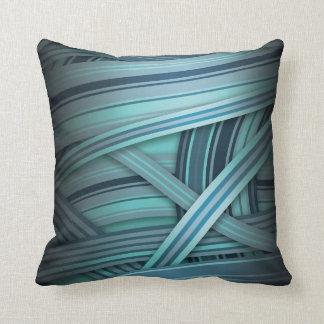resplandor azul de la aguamarina almohada