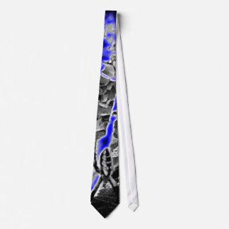 Resplandor azul de la araña del plátano corbata personalizada