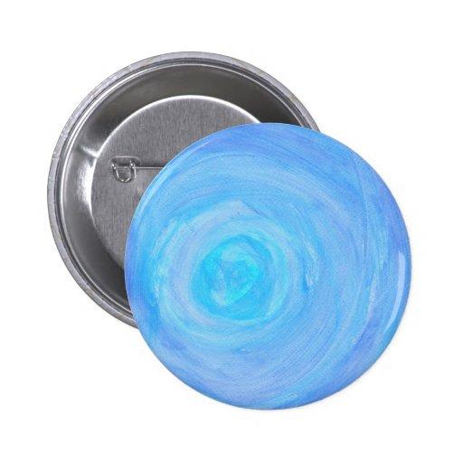 Resplandor azul pin redondo 5 cm