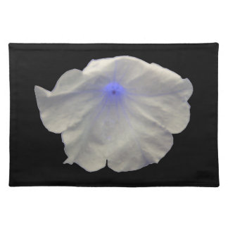 Resplandor azul Placemat de la petunia Manteles Individuales
