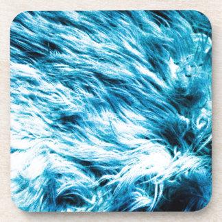 Resplandor azul posavasos de bebida