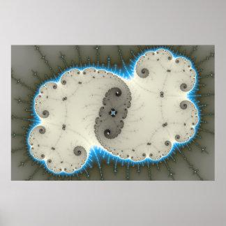 Resplandor azul - poster del fractal
