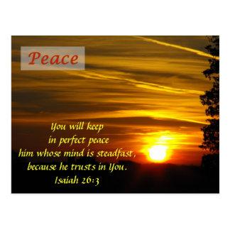Resplandor brillante - paz postales