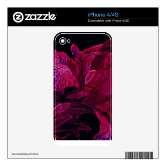 Resplandor de color rojo oscuro del iris enorme skins para iPhone 4S