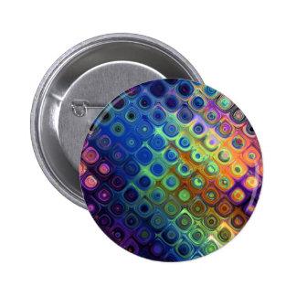 Resplandor de cristal de los círculos abstractos f pin redondo de 2 pulgadas