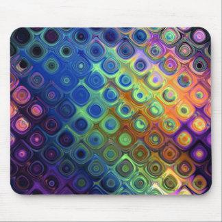 Resplandor de cristal de los círculos abstractos f tapete de ratones