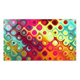 Resplandor de cristal de los círculos abstractos f tarjeta de visita
