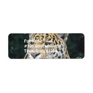 Resplandor de Jaguar Etiquetas De Remite