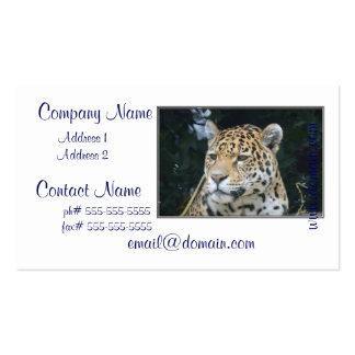 Resplandor de Jaguar Tarjetas De Visita