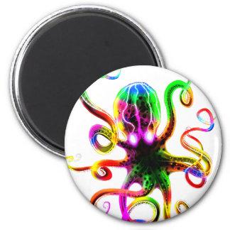 Resplandor de Kraken del arco iris Imán Redondo 5 Cm